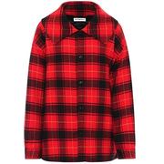 BALENCIAGA 紅色格紋法蘭絨夾克