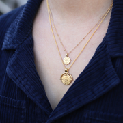 Missoma 18ct 鍍金浮雕金幣項鏈套裝