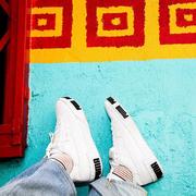 【碼全 一雙免郵】Puma 彪馬 Cali 黑白拼色女款休閑運動鞋
