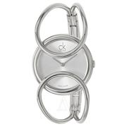 好價!Calvin Klein 卡爾文·克萊因 Inclined 系列 銀色女士時裝腕表 K4C2M116