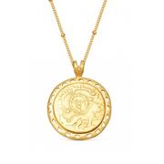 Lucy Williams x Missoma 18ct 鍍金圓形浮雕太陽項鏈