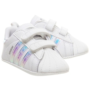 Adidas 阿迪達斯 Superstar 彩虹白色魔術貼嬰兒鞋
