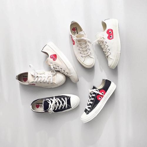Converse 英國官網:精選 Comme des Gar?ons Play x Converse 聯名款 帆布鞋