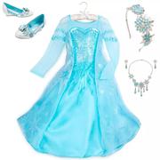滿額享8折!Disney 迪士尼 冰雪奇緣 Elsa 艾莎公主兒童服裝