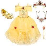 滿額享8折!Disney 迪士尼 貝兒公主 兒童全套服裝