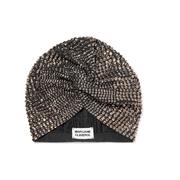 MARYJANE CLAVEROL Jones 水晶綴飾彈力棉質包頭巾