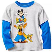 Disney 迪士尼 米奇和他的朋友們 男孩長袖拼接上衣