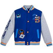 Disney 迪士尼 米奇兒童藍灰色夾克外套