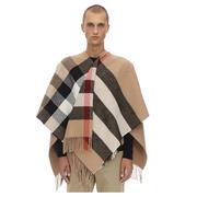 【湊單推薦】BURBERRY 大廓形格紋羊毛&羊絨斗篷