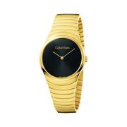 Calvin Klein 卡爾文·克萊因 Whirl 系列 黑金配色女士時裝腕表 K8A23541