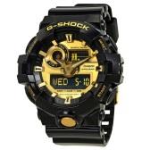 【55專享】補貨!Casio 卡西歐 G-Shock 系列 黑金配色男士運動腕表 GA-710GB-1ACR