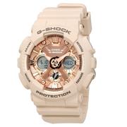 【55專享】補貨!Casio 卡西歐 G-Shock 系列 玫瑰金色調運動腕表 GMA-S120MF-4ACR
