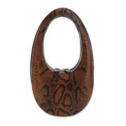 "COPERNI 迷你""SWIPE""蟒蛇紋印花皮革手提包"