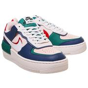 Nike 耐克 Air Force 1 空軍1號 藍綠粉拼解構式運動鞋