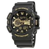 【55專享】Casio 卡西歐 G-Shock 系列 黑金配色男士運動腕表 GA-400GB-1A9CR