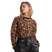 Ralph Lauren 拉夫勞倫 Leopard-Print 豹紋羊毛毛衣