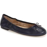 SAM EDELMAN Felicia Flat 深藍色芭蕾舞平底鞋