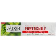 【9折】包郵包稅!Jason Natural PowerSmile 抗牙菌斑美白牙膏 強力薄荷 170g