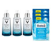 【一套免郵】Vichy 薇姿89號精華露 50ml*3瓶+Balea 芭樂雅 Aqua 補水面膜 3片