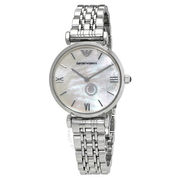 【55專享】降價!Emporio Armani 安普里奧·阿瑪尼 Classic 系列 珍珠母貝銀色女士氣質腕表 AR1682