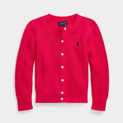 Ralph Lauren 拉夫勞倫 Rib-Knit Cotton Cardigan 小童開衫