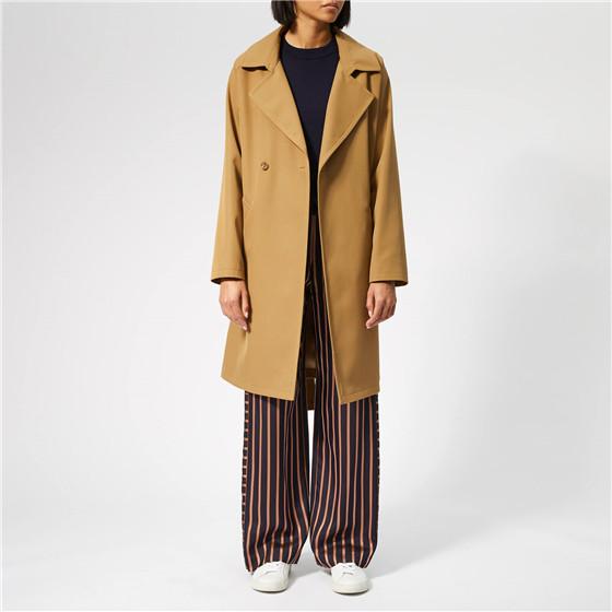 A.P.C. 女士羊毛腰帶中長款大衣