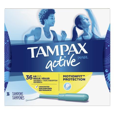【第2件半價+滿$40額外8.5折】Tampax 丹碧絲運動系列 內置導管式衛生棉條 36條