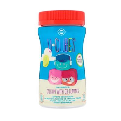 【5件0稅免郵】Solgar U Cubes 兒童鈣&D3 軟糖 粉紅檸檬水、藍莓、草莓口味 60粒