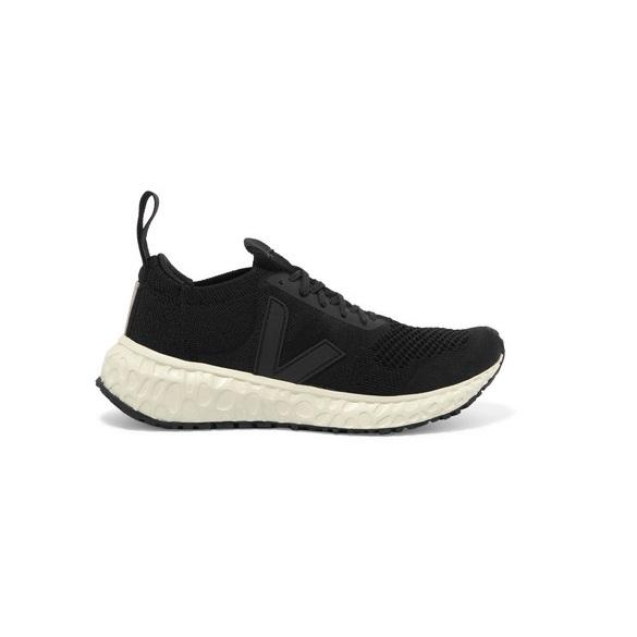 RICK OWENS x Veja 純素皮革邊飾 V 形針織運動鞋