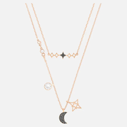 Swarovski Symbolic Moon 新款星月雙層項鏈