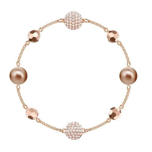 【55專享】Swarovski 施華洛世奇 玫瑰金色水晶手鏈