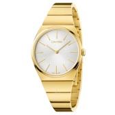1件美境免郵!Calvin Klein 卡爾文·克雷恩 Supreme 系列 金色圓盤女士時裝腕表 K6C2X546