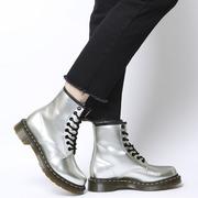 Dr. Martens 1460 金屬銀色八孔馬丁靴