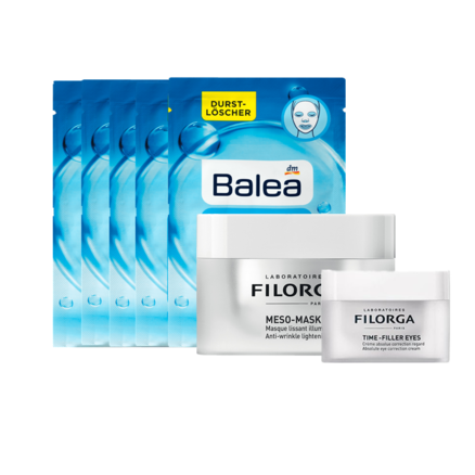 【定制禮盒】Filorga 菲洛嘉十全大補面膜 50ml+逆時光眼霜 15ml+Balea 海洋水動力保濕面膜 5片