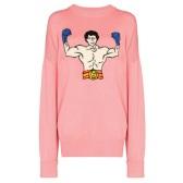 ADER ERROR oversized 粉色毛衣