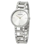 【55專享】降價!Calvin Klein 卡爾文·克雷恩 Cheers 系列 銀色女士時裝腕表 K8NY3TK6