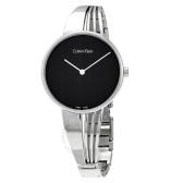 【55專享】Calvin Klein 卡爾文·克萊因 銀黑色女士時裝腕表 K6S2N111