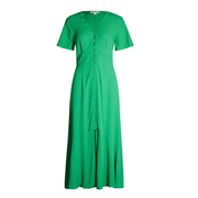 WHISTLES 微波點縐綢中長連衣裙