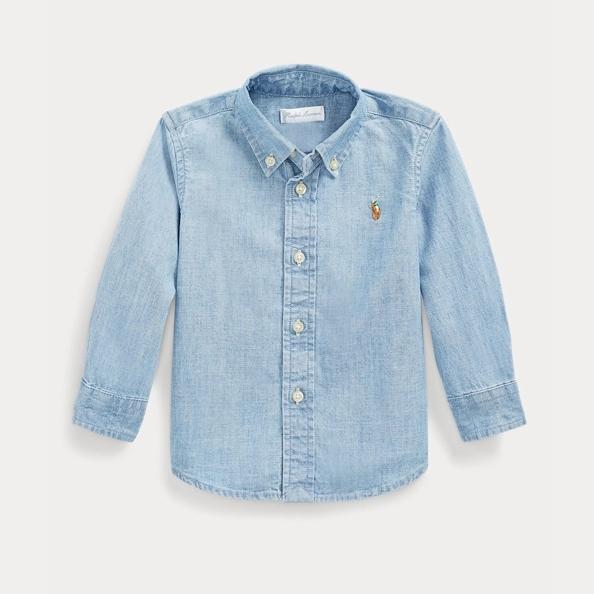Ralph Lauren 拉夫勞倫 Cotton Chambray Shirt 幼童襯衫