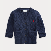 Ralph Lauren 拉夫勞倫 Cable-Knit Cotton Cardigan 3-24個月幼童經典開衫