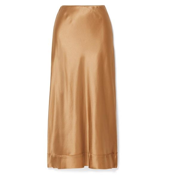 LEE MATHEWS Stella 絲緞中長半身裙