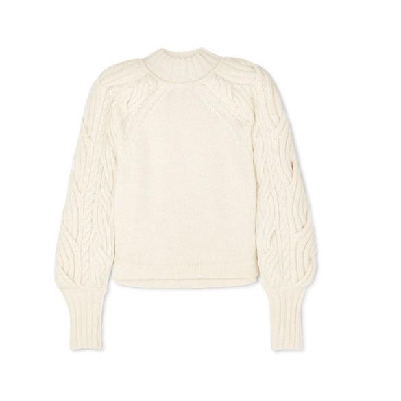 BITE STUDIOS 絞花針織有機棉質混紡毛衣