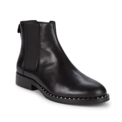 Ash 平底百搭黑色短靴切爾西靴