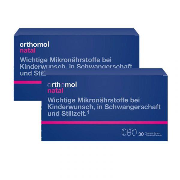 【直降8歐】Orthomol 奧適寶 Natal 孕期及產后綜合營養片/膠囊組合裝 2盒裝