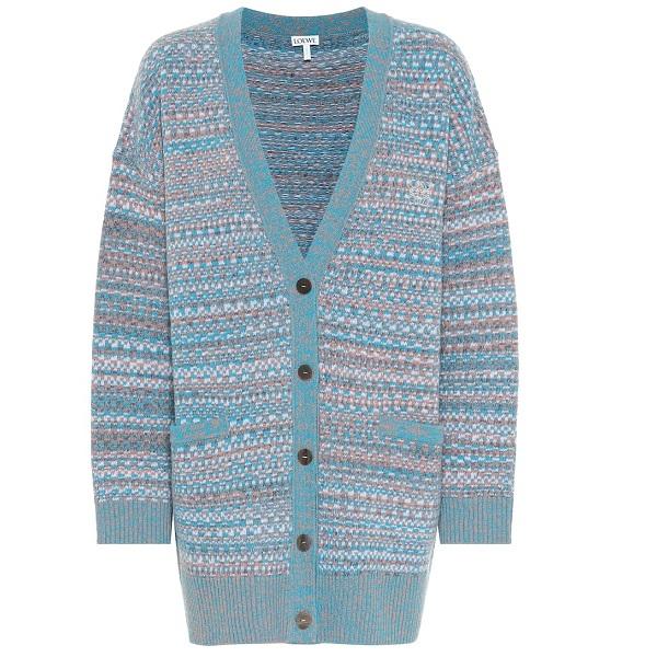 LOEWE 藍色羊毛開衫