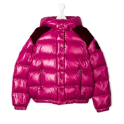 MONCLER KIDS puffer coat 粉紫色羽絨服