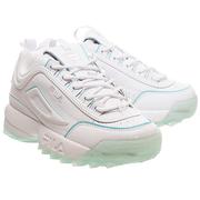 Fila 斐樂 Disruptor II 冰藍綠色白色運動鞋