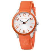 近期低價!Calvin Klein 卡爾文·克雷恩 Color 系列 橙色男士時裝腕表 K5E51YY6