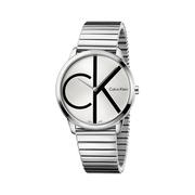 好價!Calvin Klein 卡爾文·克萊因 Minimal 系列 銀色男士時裝腕表 K3M211Z6
