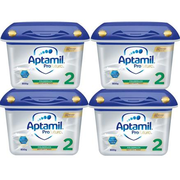 【免郵套裝】Aptamil 愛他美白金版嬰兒配方奶粉 2段 6月+ 800g*4盒